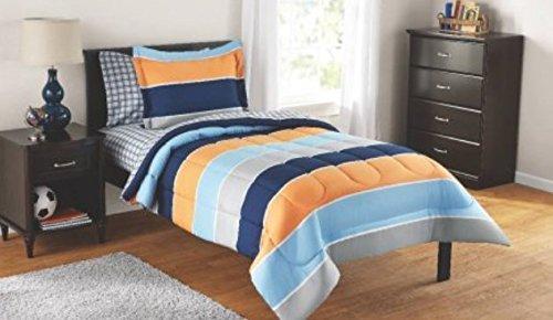 (Luxlen Kids Bed in a Bag - BIAB (Twin, Navy),)