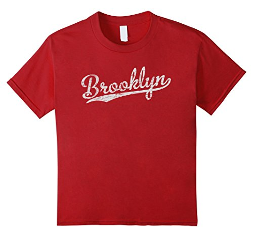 Cranberry Circa (Kids Cool Retro Vintage Brooklyn NY T-Shirt 12 Cranberry)
