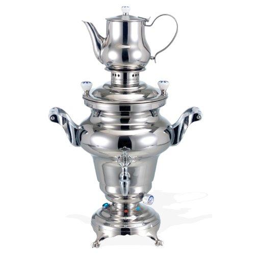 BEEM Odessa III, Stainless Steel Samovar, 3 Liters, Silver by BEEM