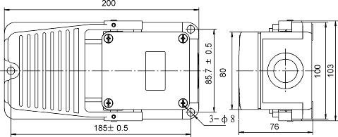 SUNS International FS-5-20-F 20A Heavy Duty Foot Switch