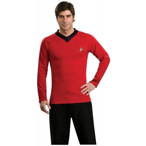 [Star Trek Classic Deluxe Red Shirt, Adult Medium Costume] (Red Star Trek Dress)