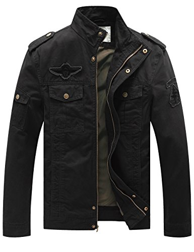 WenVen Mens Fashion Cotton Jackets