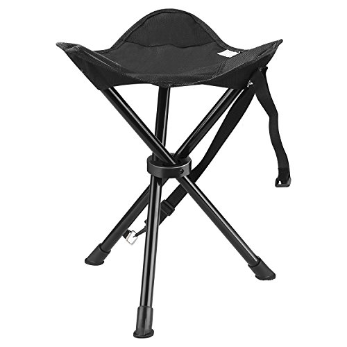 ENKEEO Portable Tripod Stool Folding Chair with Carrying Case for Outdoor Camping Walking Hunting Hiking Fishing Travel, 200 lbs. - 200 Tripod Lb