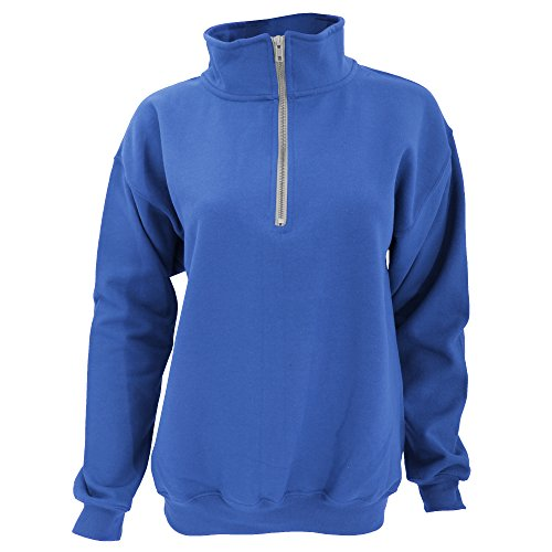 Gildan Adult Vintage 1/4 Zip Sweatshirt Top (L) (Royal)