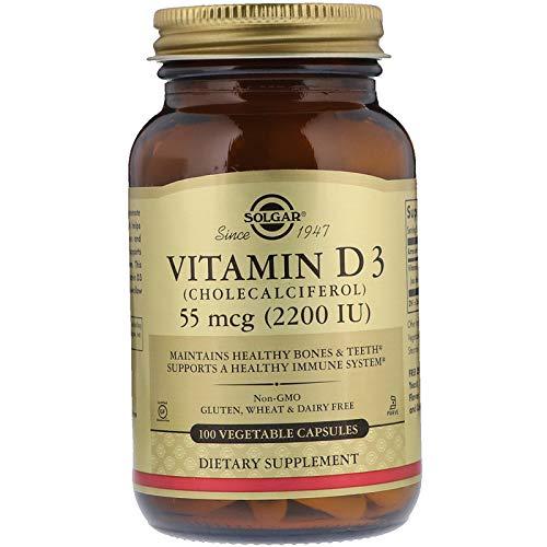 Softgels Vegetarian 30 (Solgar - Vitamin D3 (Cholecalciferol) 2,200 IU, 100 Vegetable Capsules)
