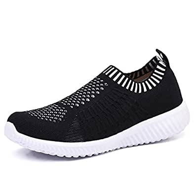 820f1b9e3dfc8 TIOSEBON Women's Athletic Walking Shoes Casual Mesh-Comfortable Work  Sneakers