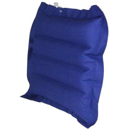 10T Ruby Box - Luft-Kissen Reisekissen aufblasbar Baumwolle gummiert blau-rot 30x30x7cm