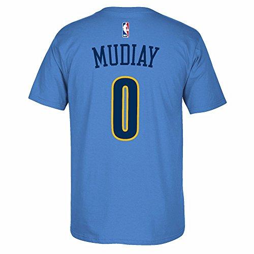 (adidas Emmanuel Mudiay Denver Nuggets NBA Light Blue Name & Number Player Jersey Team Color T-Shirt for Men)