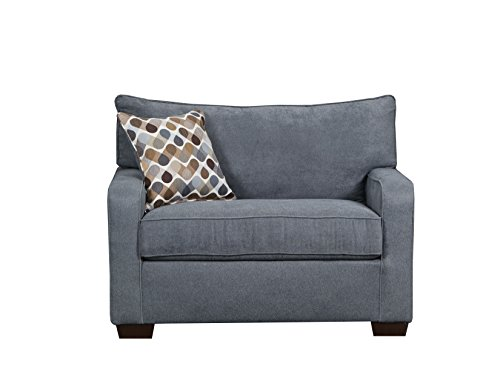 Simmons Upholstery 9025-01M Mia Denim Sleeper Sofa, Mini,