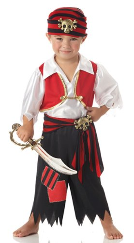 Toddler Pirate Costume Ahoy Matey - Toddler Large 4-6