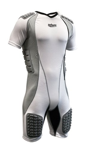 23a4364b6 Schutt Protech Full Body Suit, White/Grey, Large