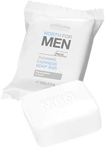 Oriflame North For Men - Cleansing Fairness Soap Bar, 100G Each (Set Of 4)