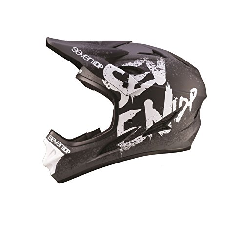 7iDP M1 Full Face Mountain Bike BMX Helmet Gradient Matt Black/White XL - Goggles Sale Mtb