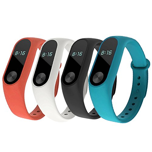 AlexGT Silicone Replacement Strap Soft Colorful Wristband Replacement Bracelet for Original Xiaomi Mi Band 2