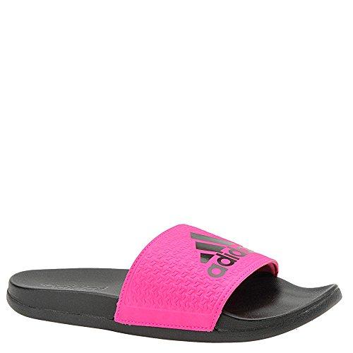 adidas Unisex-Kids Adilette Clf+ K Sport Sandal, Core Black, Shock Pink s, Shock Pink s, 13K M US Little Kid (Baseball Slides)