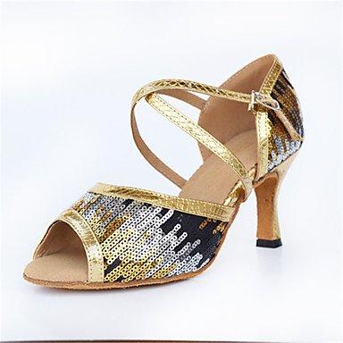 baile Azul Oro Stiletto blue Latino Zapatos de Tacón Moderno Personalizables 5ZwnO7qf