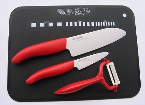 Compra Kyocera Juego de Cuchillos de cerámica: Cuchillo de ...