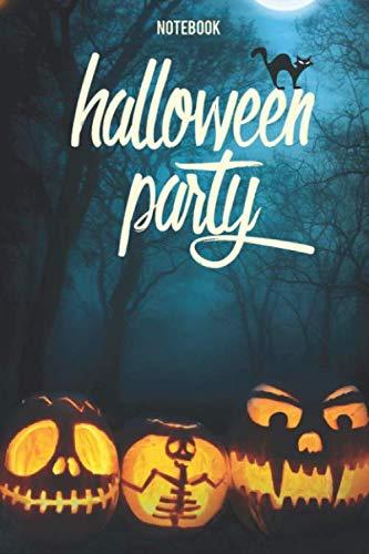 NOTEBOOK Halloween Party: Carnet de notes à remplir | 100 pages - 6x9 pouces | Idéal pour Carnet de Jeux halloween - Recettes de cuisine - Carnet de ... Cahier d'écriture pour enfant  - organisateur