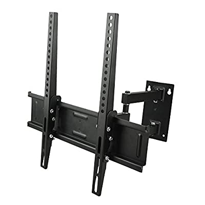 Sunydeal Articulating Full Motion TV Wall Mount Bracket for Vizio LG Samsung TCL Sony Sharp AQUOS 26 28 29 32 39 40 42 43 46 47 inch Plasma LCD LED Flat Screen Display Smart TV, load up to 66lbs