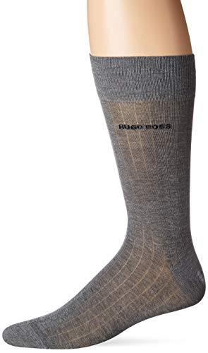 HUGO BOSS Men's Peter Rib Col MC US 10211725 01, gray, 7-13 (Boss Pack 3 Men Hugo Socks)