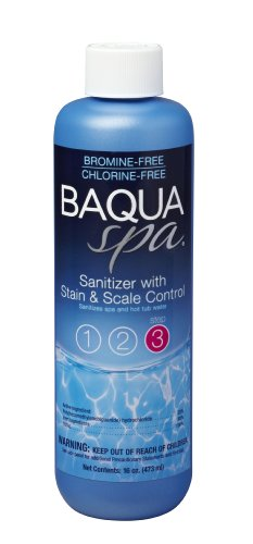 (Baqua Spa 88855 Stain & Scale Control Spa Sanitizer, Clear)