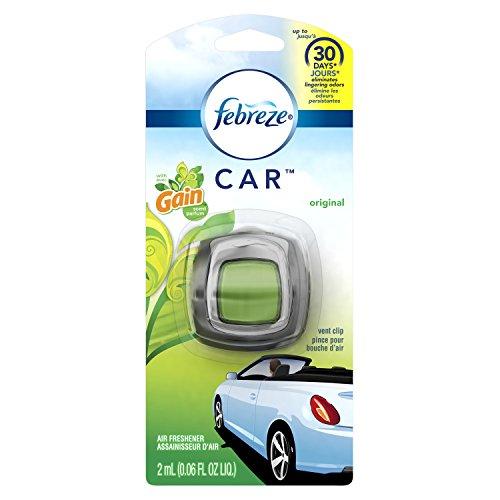 Febreze  Air Freshener, Car Vent Clip Air Freshener,  with Gain Original Air Freshener, 8 Count