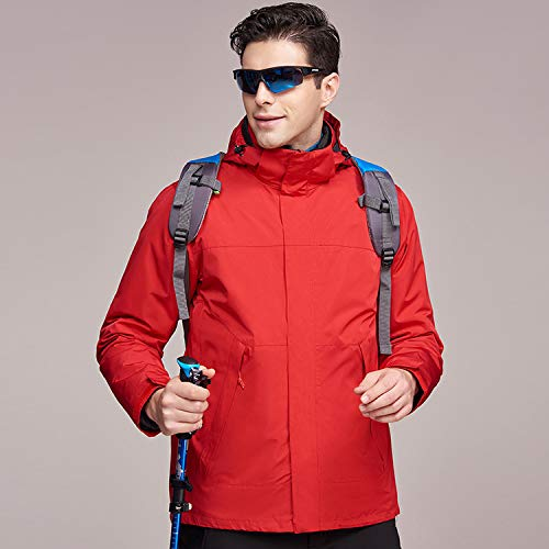 Outdoor one XYL Jackets warm Jackets in velvet in three and waterproof HOME red winter plus and autumn Outdoor qErrSaYt
