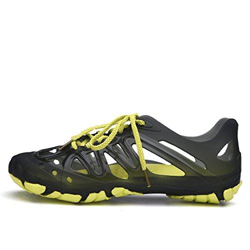 Xing Lin Flip Flop De La Playa Cueva De Los Hombres Zapatos Zapatos De Plástico Sandalias Transpirables Baotou Playa Playa Zapatos Zapatos Hombres Vadeando Zapatos Antideslizantes. black