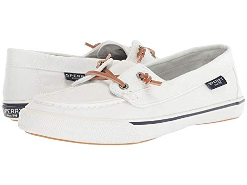 SPERRY Women's Lounge Away Sneaker, White, 8.5 (Top Sperry Shoes For Women)