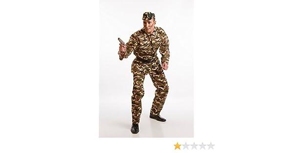 Disfraz de Militar de camuflaje para hombre: Amazon.es: Juguetes y juegos