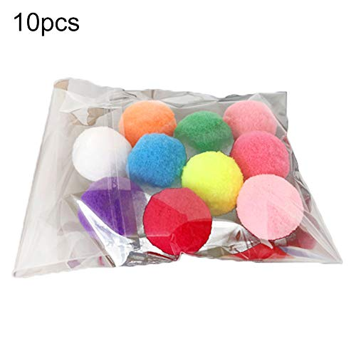 ywbtuechars 10/20/30Pcs Pet Cats Kitten Polyester Plush Balls Interactive Play Training Toy, Cats Toy