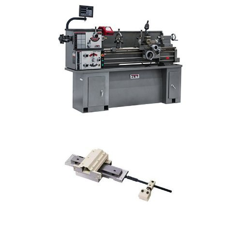 JET 321130 BDB-1340A-C80 13-Inch Swing by 40-Inch Belt Drive Metalworking Lathe with Newall C80 Digital Readout, 230-Volts 1 Phase with Taper Attachment by WMH Tool Group
