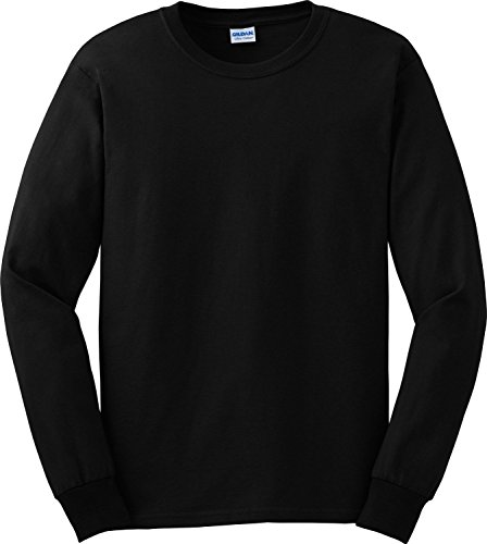 Gildan Ultra Cotton 6 oz. Long-Sleeve T-Shirt, 3XL, BLACK by Gildan