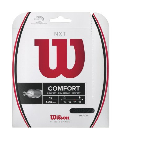 Wilson NXT Multifilament 17 Gauge Tennis Racket String in Black Color (Best String for Power and Comfort) ()