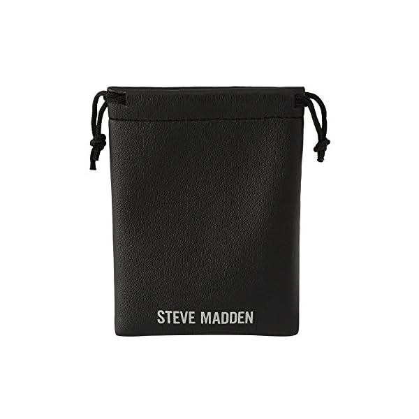 Steve Madden Mens Textured Design Labradorite and Garnet Beaded Double Stand Adjustable Bracelet