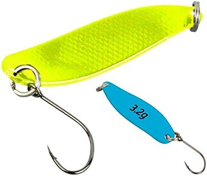 FTM Trout Spoon Forellenblinker Hammer 629 Schwarz UV Gelb 2,4g 5200629
