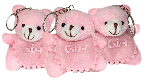 Girl Teddy Bears Plush Stuffed Animal Keychains - 3 pcs Set of Hanging Toy Doll, Lucky Charm & Ornament (Stuffed Display Set)