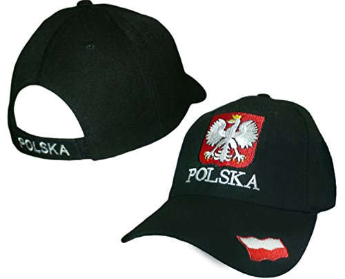 Polska Crest Velcro Adjustable Hat Poland Flag Emblem Polish Pride Cap
