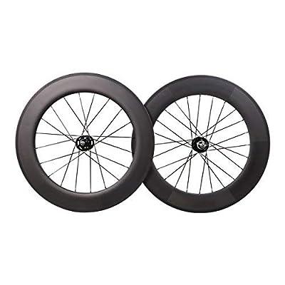 ICAN 88mm Carbon Wheelset Track Bike Fixed Gear Bike Wheels Only 2080g