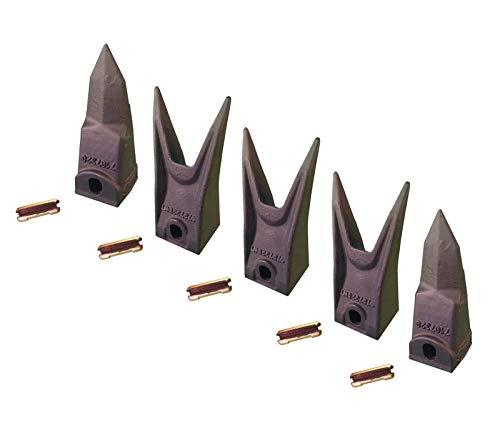 Bobcat Excavators (5 - Bobcat Style Excavator, Skid Rock Bucket Teeth & Pins - 7107321, 7107320)