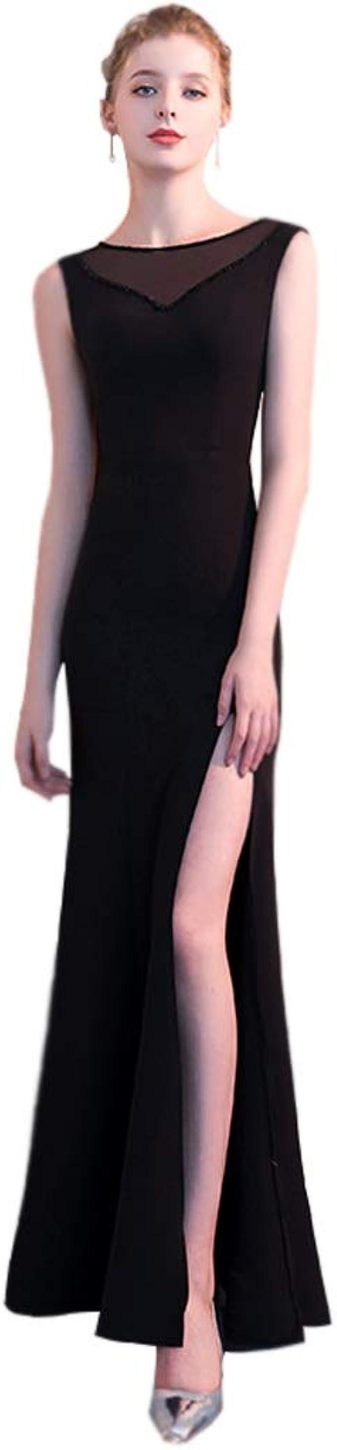 ZHAO YELONG Vestido De Noche Negro Sexy Vestido De Fiesta con ...
