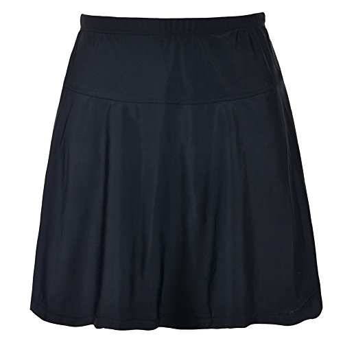 Bikini Bottom Plus Size Swimsuit High Waisted Swim Skirt US20 Black ()