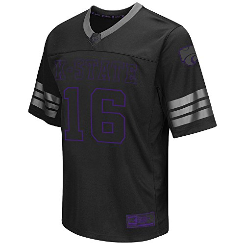 Mens NCAA Kansas State Wildcats Football Jersey (Black) - (Kansas State Football Jersey)