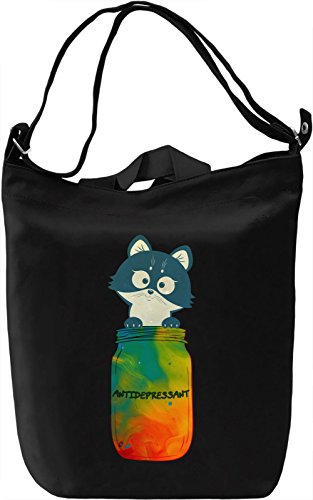 Fur Antidepressant Borsa Giornaliera Canvas Canvas Day Bag| 100% Premium Cotton Canvas| DTG Printing|