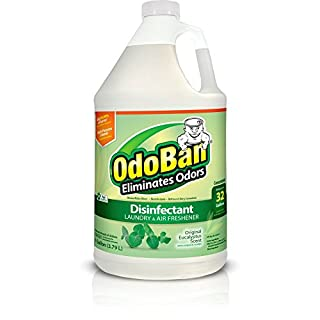 OdoBan Multipurpose Cleaner Concentrate, 1 Gal, Original Eucalyptus Scent - Odor Eliminator, Disinfectant, Flood Fire Water Damage Restoration