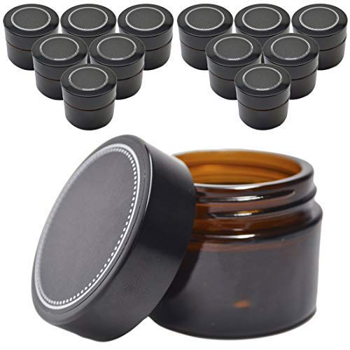 12 Pack Firefly Craft Amber Apothecary and Salve Cosmetic Jars with Lids, 4 oz Each ()