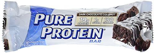 Pure Protein High Protein Bar Dark Chocolate Coconut 1.76-Ounce Bar (Pack of 12), Protein Bars, 19 Grams of Protein, Gluten (Protein Snack Bar)