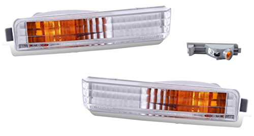 SPPC Bumper Lights Clear Set For Honda Accord - (Pair) Driver Left and Passenger Right Side Replacement