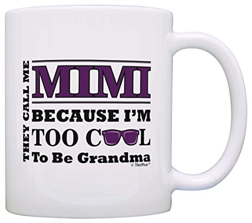 Mothers Grandma Sunglasses Coffee White