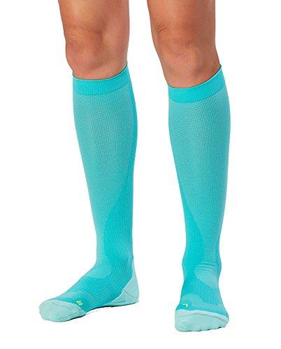 2XU Women's Compression Performance Run Socks, Ice Green/Ice Green, X-Small by 2XU (Image #3)